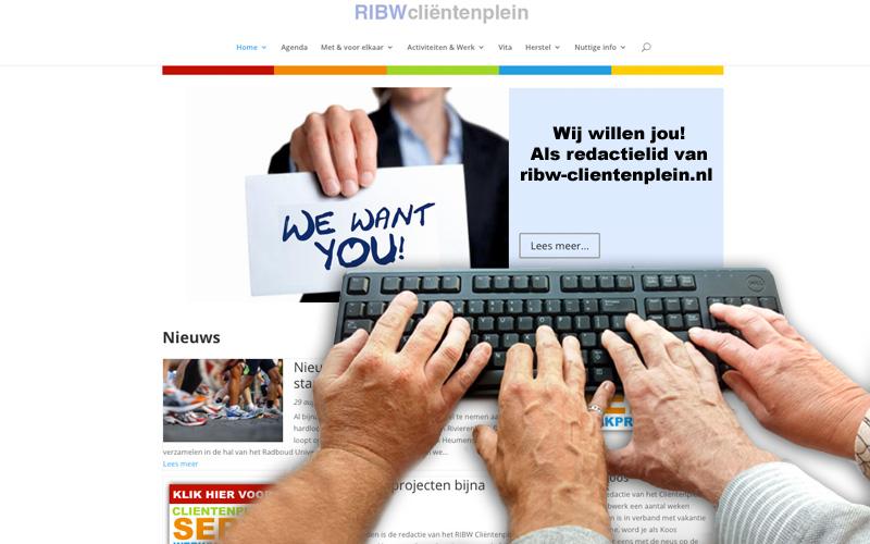 Wij willen jou als redactielid RIBW Cliëntenplein!