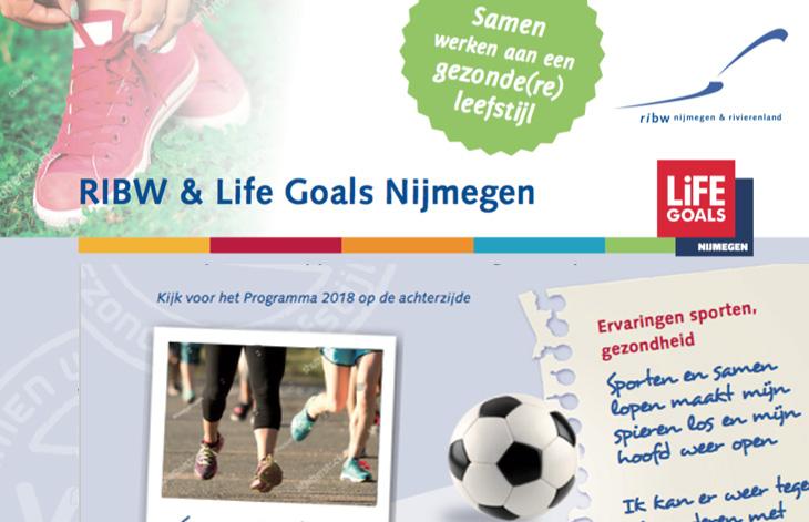 Sportprogramma's van Life Goals Nijmegen met RIBW Nijmegen & Rivierenland