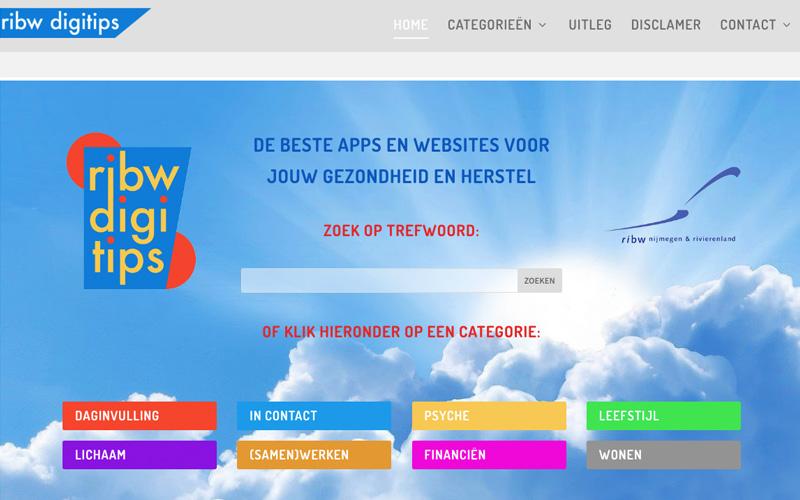 www.ribw-digitips.nl Apps voor je gezondheid