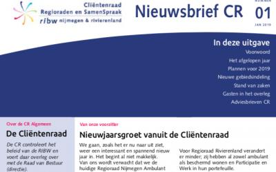 Nieuwsbrief Clientenraad