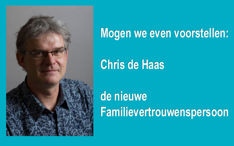 Chris de Haas is de nieuwe Familievertrouwenspersoon