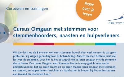 Nieuwe cursusdata 'Omgaan met Stemmen Horen' in Nijmegen