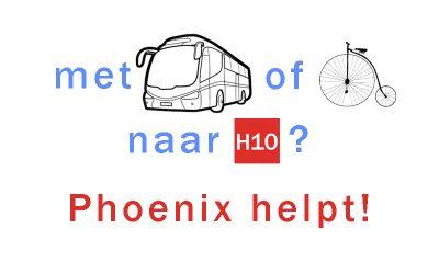 Met bus of fiets naar H10: Phoenix helpt!