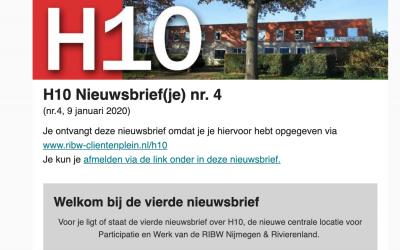 H10 Nieuwsbrief(je) nr 4, 9 januari 2020