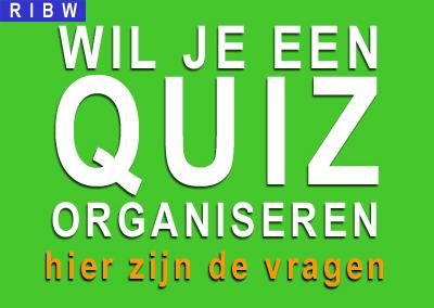 Wil je een Quiz organiseren? Dan is dit je kans!