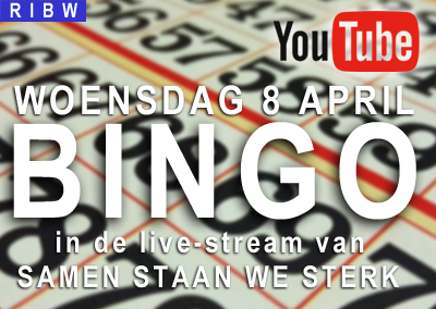 Bingo in de samen staan we sterk stream (8 april, 13.00 uur)