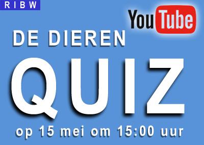 De RIBW Corona Thuisblijf DIEREN Quiz op YouTube (woensdag 15 mei)