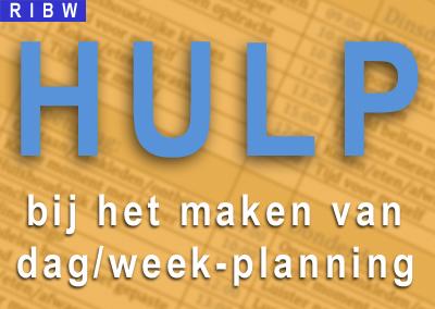 Hulp bij het maken van een dag/weekplanning