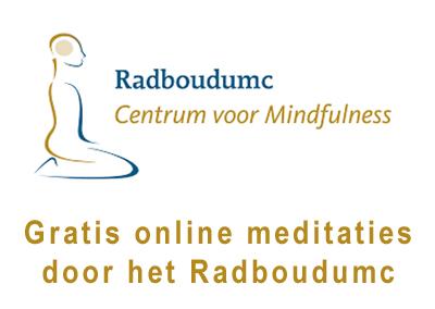 Gratis online meditaties aangeboden door het Radboudumc