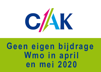 Geen eigen bijdrage Wmo in april en mei 2020