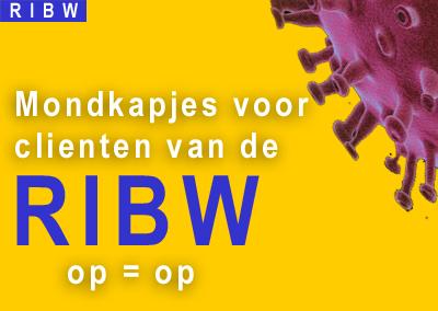 Mondkapjes voor clienten van de RIBW (Wie het eerst komt, het eerst maalt, en op=op)