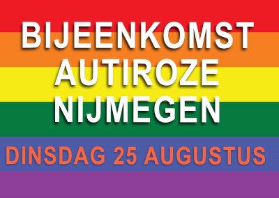 AutiRoze Borrelavond Nijmegen in het Roze Huis (25 augustus)