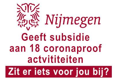 Nijmeegse subsidie voor coronaproof activiteiten