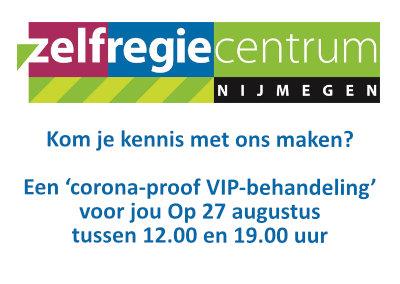 Zelfregiecentrum Nijmegen ontmoet jou graag op donderdag 27 augustus