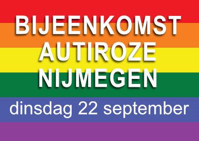 AutiRoze bijeenkomst Nijmegen in het Roze Huis (22 september)