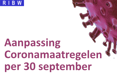 Aanpassing Coronamaatregelen per 30 september