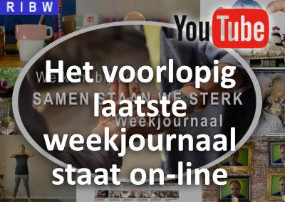 Het voorlopig laatste Samen Staan We Sterk Weekjournaal staat online
