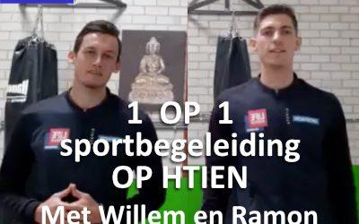 1 op 1 sportbegeleiding op Htien (met Willem en Ramon)