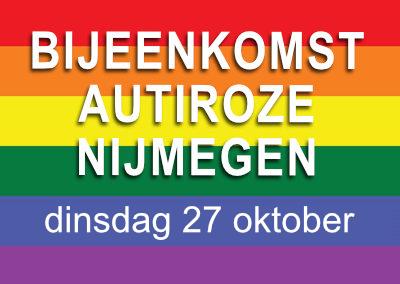AutiRoze bijeenkomst Nijmegen in het Roze Huis (27 oktober)