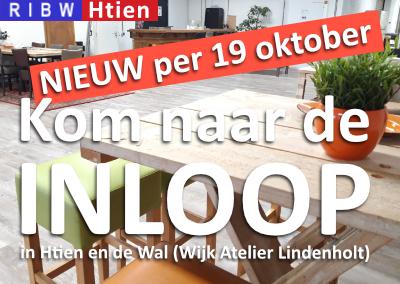 Kom naar de inloop in Htien en WAL! (Tijden aangepast per 19 oktober)