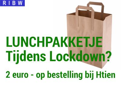 lunchpakketje ophalen tijdens Lockdown ( 2 euro, op bestelling bij Htien)