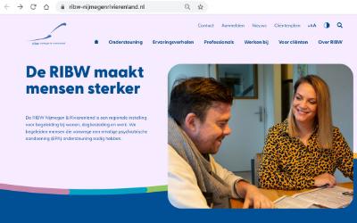 RIBW Nijmegen & Rivierenland heeft een nieuwe Website