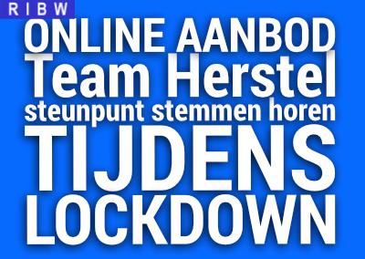 Online aanbod Team Herstel en steunpunt stemmen horen tijdens lockdown