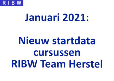 Deze Cursussen van RIBW Team Herstel starten in Januari