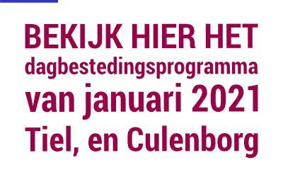 Programma januari in Tiel en Culemborg
