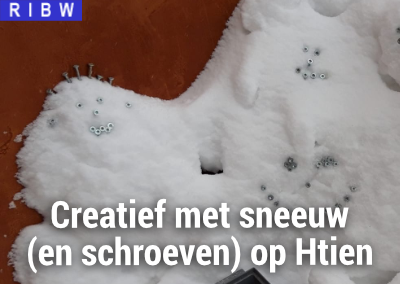 Creatief met sneeuw (en schroeven :-)