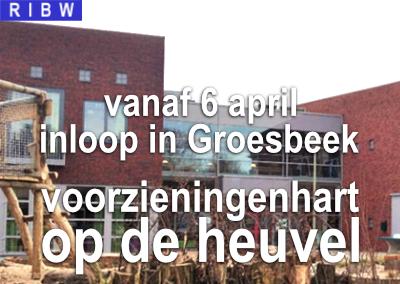 Vanaf 6 april: inloop in Groesbeek