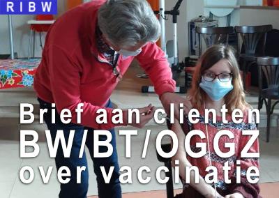 Brief aan RIBW-cliënten BW/BT/OGGZ die in aanmerking komen voor vaccinatie