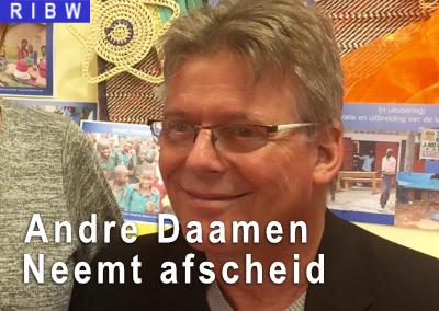 Andre Daamen neemt afscheid van de RIBW