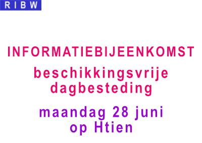 Infobijeenkomst beschikkingsvrije dagbesteding (28 juni)
