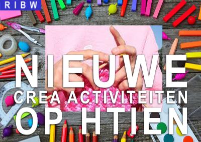 Nieuwe crea-activiteiten op Htien (gaan door t/m augustus :-) )