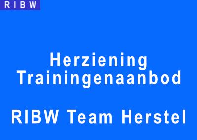 Herziening trainingenaanbod team Herstel