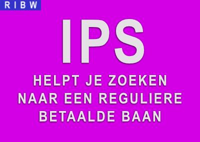 IPS helpt je zoeken naar een reguliere betaalde baan