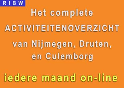 Het complete activiteitenoverzicht on-line